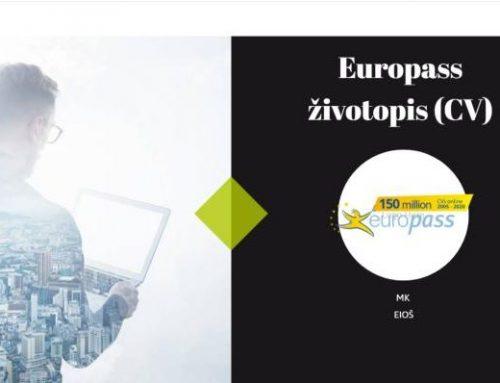 Europass dokumenti s posebnim obzirom na životopis